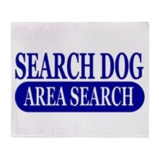 Blue Area Search Dog Athletic Throw Blanket