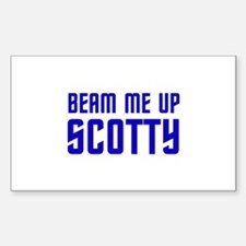Beam me up, Scotty. Decal
