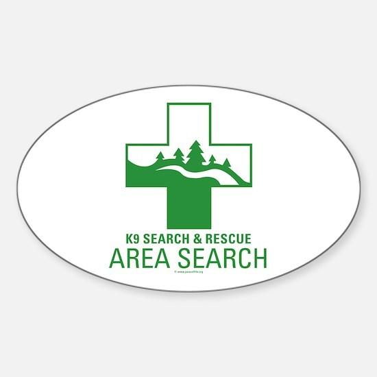 Area Search Crosses Sticker (Oval)