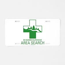 Area Search Crosses Aluminum License Plate