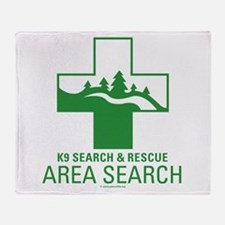 Area Search Crosses Throw Blanket