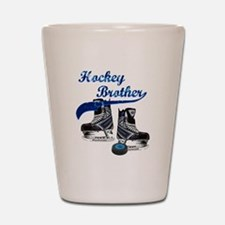 Hockey Brother - Blue Shot Glass