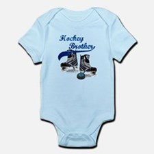 Hockey Brother - Blue Infant Bodysuit