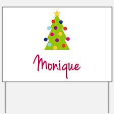 Christmas Tree Monique Yard Sign
