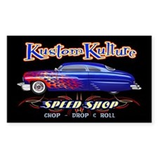 Kustom Kulture - Blue Lead Sled Decal