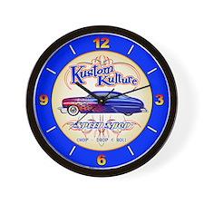 Kustom Kulture - Blue Lead Sled Wall Clock
