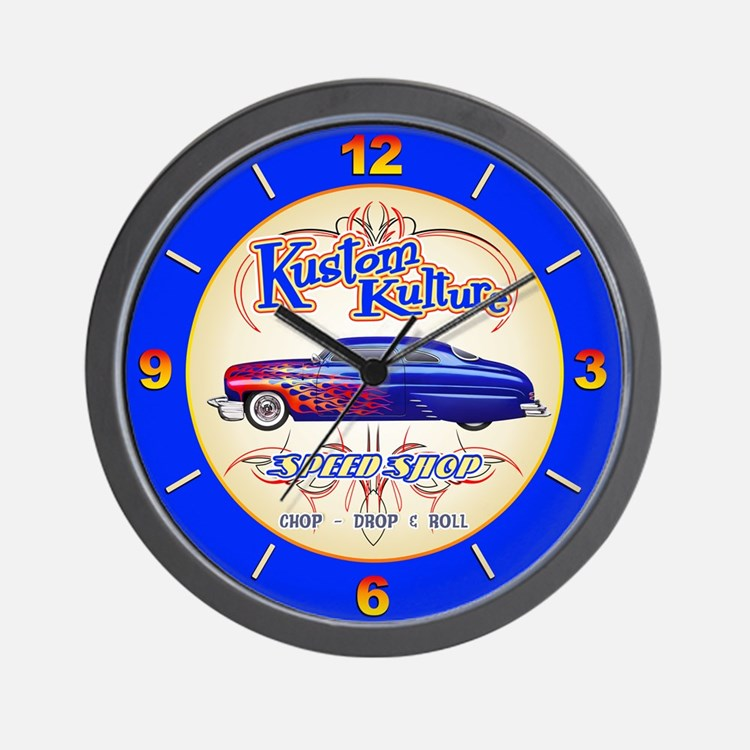 Kustom Kulture - Blue Lead Sled Wall Clock
