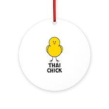 Thai Chick Ornament (Round)