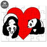 Panda Bear Love Puzzle