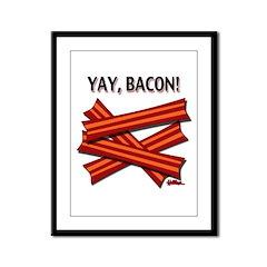 Yay, Bacon! Framed Panel Print