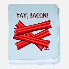 Yay, Bacon! baby blanket