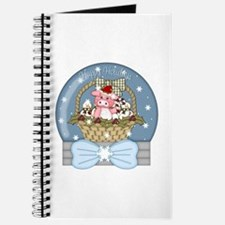 Pig Snow-Globe Holiday Journal