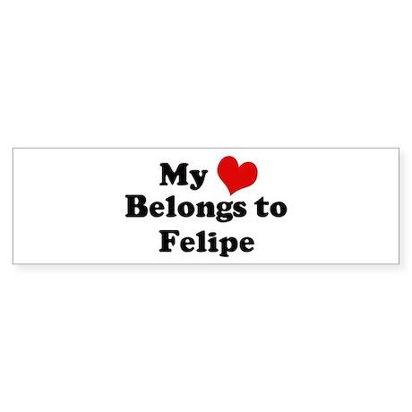 My Heart: Felipe Bumper Sticker