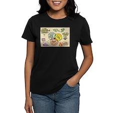 The Creative Process black t-shirt (women)