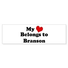 My Heart: Branson Bumper Bumper Sticker