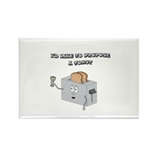 Propose a toast Rectangle Magnet