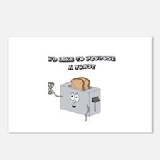 Propose a toast Postcards (Package of 8)