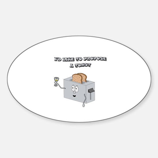 Propose a toast Sticker (Oval)