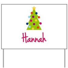 Christmas Tree Hannah Yard Sign