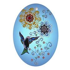 Hummingbird Ornament (Oval)
