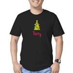 Christmas Tree Patty Men's Fitted T-Shirt (dark)