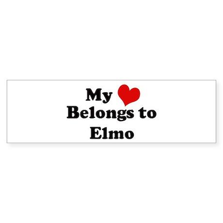 My Heart: Elmo Bumper Sticker