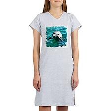 DOLPHIN WATERCOLOR ART Women's Nightshirt