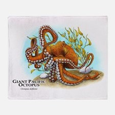 Giant Pacific Octopus Throw Blanket