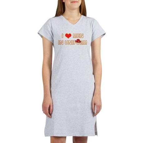 I LOVE MEN IN FIRE FIGHTER UN Women's Nightshirt