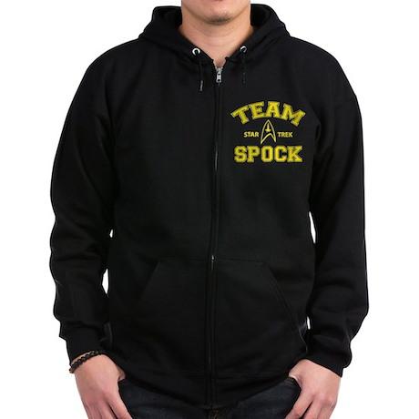 Team Spock - Star Trek Zip Hoodie (dark)