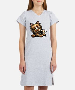 Norwich Terrier Cartoon Women's Nightshirt