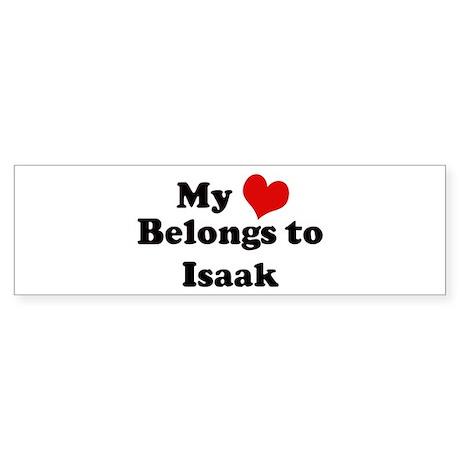My Heart: Isaak Bumper Sticker
