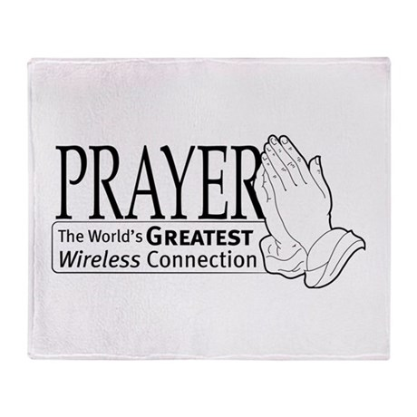 """Prayer"" Throw Blanket"