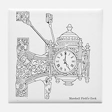 Field's Clock Tile Coaster