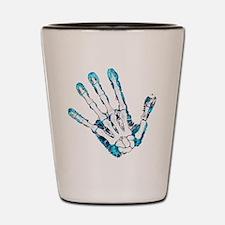 Blue Hand Shot Glass