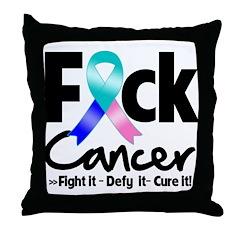 Fuck Thyroid Cancer Throw Pillow