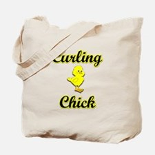 Curling Chick Tote Bag