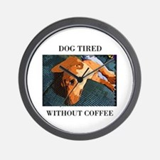 Dog Tired Wall Clock