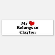 My Heart: Clayton Bumper Bumper Bumper Sticker