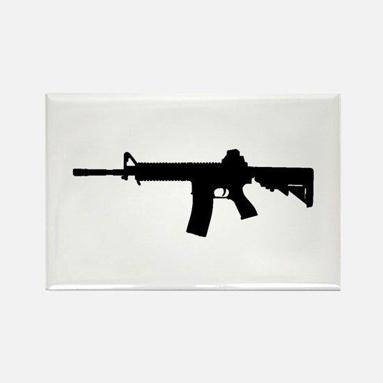 Cute M4 rifle Rectangle Magnet