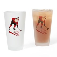 Team Santa Drinking Glass