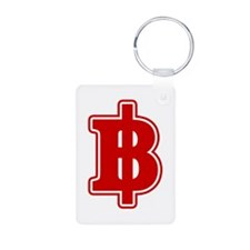 Baht Sign Keychains