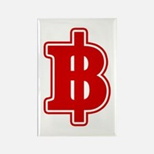 Baht Sign Rectangle Magnet