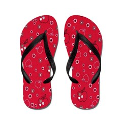 Apple A Day Red Flip Flops