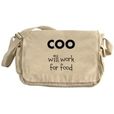 COO will work for food Messenger Bag