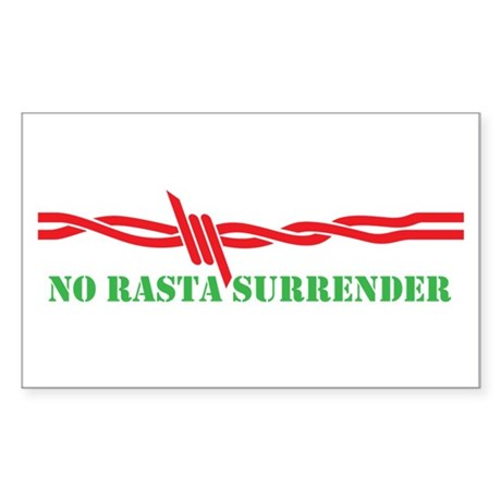 NO RASTA SURRENDER Sticker (Rectangle)