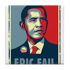 Obama - Mistake Tile Coaster