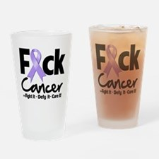 Fuck Cancer Drinking Glass