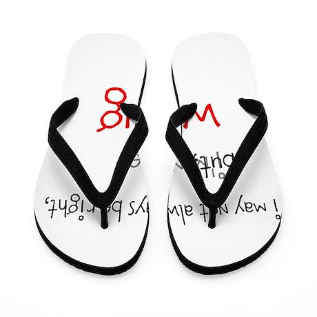 OYOOS Never Wrong design Flip Flops