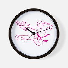 Unique Taekwondo kick like a girl Wall Clock